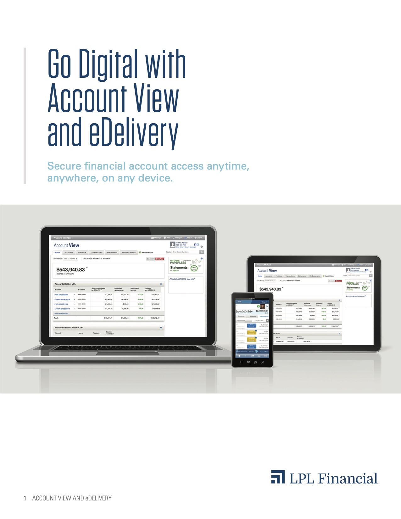 Download the Account View Brochure